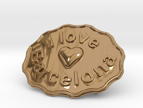 I Love Barcelona in Polished Brass