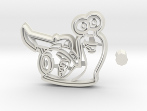 Turbo Cookie Cutter from Disney in White Natural Versatile Plastic