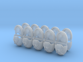 Commission 5 Indo Terminator Shoulder Pads x20 in Smooth Fine Detail Plastic