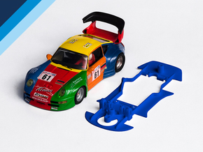 1/32 ProSlot Porsche 911GT2 Chassis for slot.it AW in Blue Processed Versatile Plastic