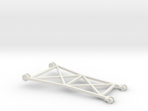 1/64 Beet Piler Cable Frame in White Natural Versatile Plastic