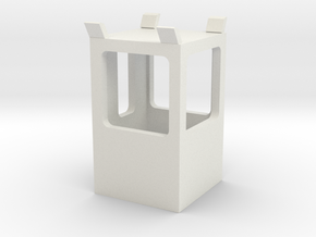 1/64 Sugar Beet Piler Control Tower Cabin in White Natural Versatile Plastic