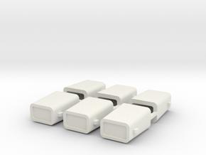set4798 Stahlkokille 2 Zapfen Längs mit Guß 6erSet in White Natural Versatile Plastic