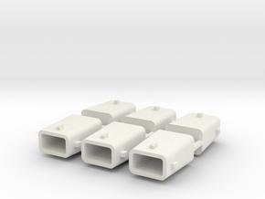 set4791 Stahlkokille 4 Zapfen mit Boden 6erSet 1:1 in White Natural Versatile Plastic