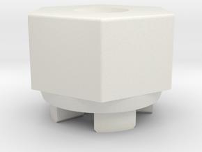 Schumacher Rascal 12mm Hex Wheel Adaptor in White Natural Versatile Plastic