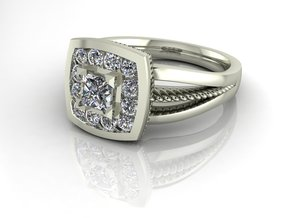 Grace collection 2 NO STONES SUPPLIED in Fine Detail Polished Silver