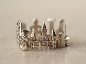 New Orleans Cityscape - Skyline Ring in Polished Silver