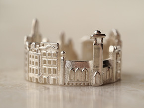 Stockholm Cityscape - Skyline Ring in Polished Silver