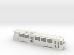 Tatra T6B5 0 Scale [body] in White Natural Versatile Plastic: 1:48