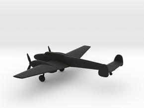 Messerschmitt Bf 110 C-1 Destroyer in Black Natural Versatile Plastic: 1:160 - N