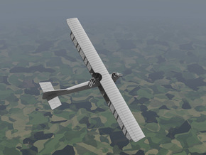 Caudron R.4 (various scales) in Gray PA12: 1:144