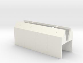 S - SP TM Shroud pair in White Processed Versatile Plastic