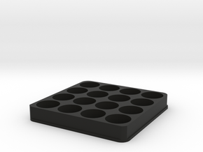 E Juice Holder/Stand 16 60ML Slots in Black Natural Versatile Plastic