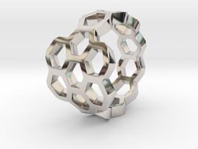 Hex Flower Ring in Platinum: 4 / 46.5