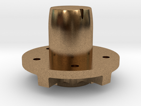"Front Hub - 5 x 4.75"" Bolt Pattern in Natural Brass"