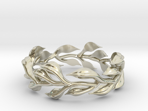 Vine Ring, no sides - Size 7 in 14k White Gold