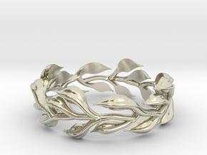 Vine Ring, no sides - Size 7 in 14k White Gold