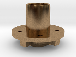 "Rear Hubs - 5 x 4.75"" bolt pattern in Natural Brass"