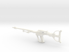 Movie Trooper Rifle in White Processed Versatile Plastic
