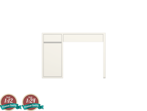 Miniature Micke Desk - IKEA in White Natural Versatile Plastic: 1:24