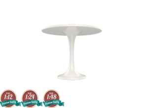 Miniature DOCKSTA Table - IKEA in White Strong & Flexible: 1:24