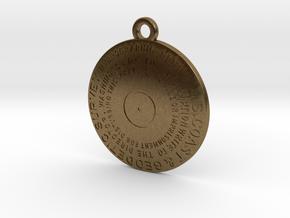 Hydrographic Station Keychain in Raw Bronze
