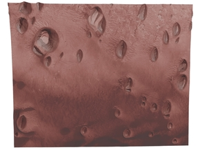 Mars Map: Small Buttes and Dunes in Light Red in Coated Full Color Sandstone