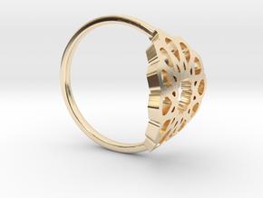 Seamless Ring in 14k Gold Plated Brass: Medium