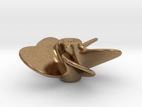 Model Ship Propeller 30mm 5-blades (LH) in Natural Brass