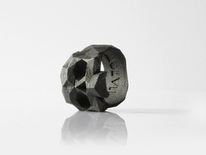 HAROW-SKULL-RING / Size - XL in Matte Black Steel