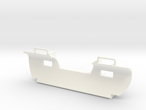 S - Snow Plow 1 in White Processed Versatile Plastic