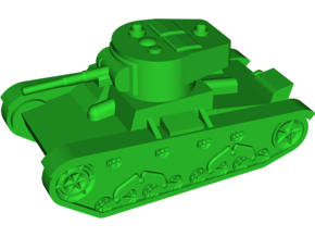 T-26 Model 1933 Light Tank in White Natural Versatile Plastic: Small