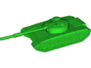 T-64 (Obyekt 432) Medium Tank in White Natural Versatile Plastic: Small
