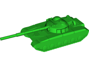 T-64B (Obyekt 447A) MBT in White Natural Versatile Plastic: Small