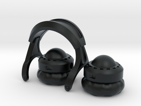 Pocket full headphones - (Assembled version) in Black Hi-Def Acrylate