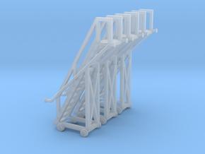N Tank Car Ladder 3pc in Smooth Fine Detail Plastic