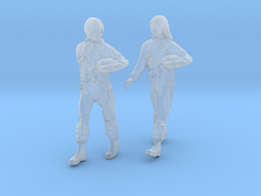 1/[72, 48, 32, 24] USAF 2X Female Pilots Walking  in Frosted Ultra Detail: 1:32