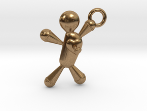 Voodoo Doll pendant in Natural Brass