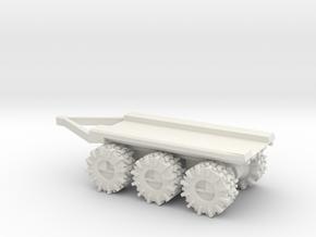 All-Terrain Vehicle 3 axil trailer for modular loa in White Natural Versatile Plastic
