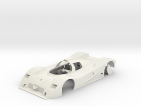 1:24 SLOT CAR BODY ALFA ROMEO SE048 GROUP C in White Natural Versatile Plastic