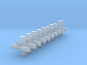 200 Liter Fässer 40er Set Vollmaterial - 1:120 in Smooth Fine Detail Plastic