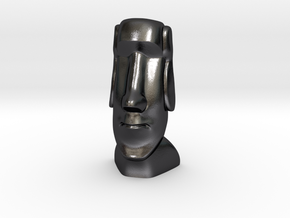 Moai-Standard version in Polished and Bronzed Black Steel: Small