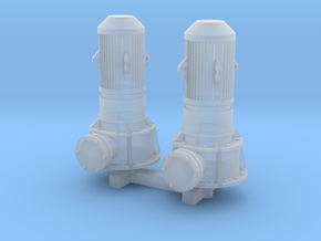 N Scale Vertical Pump 2pc in Smooth Fine Detail Plastic