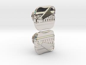 ZIPPER Cufflik in Platinum