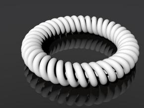 Twisted Bracelet in White Natural Versatile Plastic