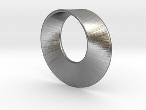 Mini Mobius in Natural Silver