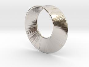Mini Mobius in Rhodium Plated Brass