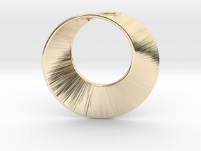 Mini Mobius pierced in 14K Yellow Gold