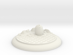 Alienbase 50mm Round in White Strong & Flexible