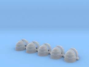 Blank MK1 Shoulders - Rebuilt 008a in Smooth Fine Detail Plastic